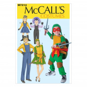 McCall's Patterns M7214 Adults'/Children's/Boys'/Girls' Costumes Sewing Template, KID