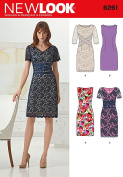 Simplicity Creative Patterns New Look 6261 Misses' Dress with Neckline Variations, A