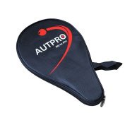 AUTPRO Table Tennis Case & Bag - Ping Pong Paddle Cover with Bonus Ball Storage-Thicken Waterproof Material Bag