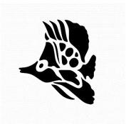 15cm Tropical Fish Stencil