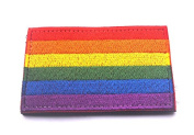 Rainbow LGBT Pride Flag Hook and loop Patch Gay Right Embroidered Morale Emblem