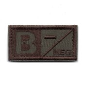 Tactical Blood Type A/B/AB/O Negative POS Hook and loop Patch Embroidered Morale Military Badge for Outdoors