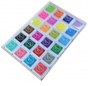 Kingree 24 Colour Finger Ink Pad for kids, Rainbow Colour Stamp Ink Pad for Kids to DIY Scrapbooking Card Making