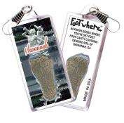 Savannah FootWhere Souvenir Zipper-Pull. Made in USA