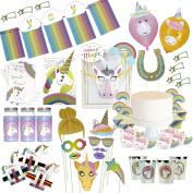 Musykrafties Rainbow Unicorn Party Decoration Birthday Activity Supply and Cupcake Kit