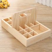 New 21 Grids Wooden Bottles Stand Container Organiser Storage for Essential Oil Aromatherapy