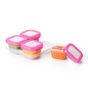OXO Tot Baby Blocks Freezer Storage Containers, Pink 120ml Set of 8