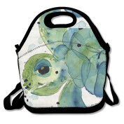 Sea Turtle Lunch Bag Tote Cooler Bag For Picnic School Travel Lunch Box