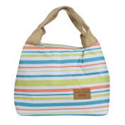 Lunch Bag,FUNIC Thermal Insulated Lunch Box Tote Cooler Zipper Bag Bento Lunch Pouch