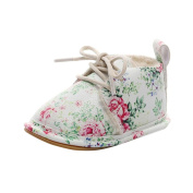 Tiean Newborn Infant Baby Girls Boys Floral Crib Shoes Soft Sole Anti-slip Sneakers