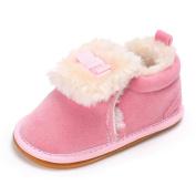 Ec Baby Warm Shoes Boy Girl Plush Moccasins Soft Sole Non-slip Velvet Snow Shoes