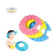 CiCy 3 Pcs Adjustable Children Baby Kids Waterproof Shampoo Bath Bathing Shower Cap Hat Wash Hair Shield Hat