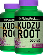 Piping Rock Kudzu Root 500 mg 2 Bottles x 100 Quick Release Capsules Herbal Supplement