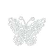 Butterfly Embroidery DIY Clothes Accessories White Lace Patch Clothing Decals