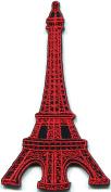 5.7cm x 10cm .Eiffel Tower Paris France Retro Applique Iron On Patch