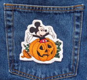 Mickey Mouse Disney PUMPKIN Patch All Saint's Happy Halloween Disney Character Patch
