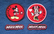 Mickey Super Star Minnie High Steppin' and Hollywood Banners Iron On Novelty Patches