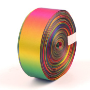 5 yd a roll,Multi size Double Face Rainbow Ribbons Value pack