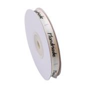 Myhouse Satin Ribbon Beige Handmade Pattern Craft Ribbon for Gifts Wrap Wedding Decorations