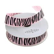 Homeford Zebra Print Grosgrain Ribbon, 2.2cm , 10 Yards