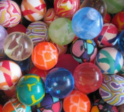 WensLTD 100PCS Bounce Bouncy Ball Jet Balls Childern Kids Birthady Party Bag Gift