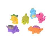 SNNplapla New 6pcs Dinosaur Rubber Squeaking Toy Kid Cognitive PVC Bath Toys