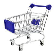 Mini Multi-function Shopping Cart Play House-Blue