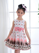 Baby Clothes,IEason 2017 Hot Sale! Kids Girls Bow Belt Sleeveless Bubble Peacock Dress Party Clothing