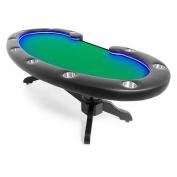 BBO Poker Lumen HD Lighted Poker Table for 10 Players, 260cm x 120cm Oval