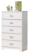Ashley Furniture Signature Design - Lulu Chest of Drawers - 5 Drawers - Casual Styling with Crisp Finish - White