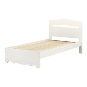 South Shore Caravell Twin Bed Set, 100cm , White Wash