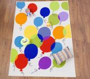 Kids Ballon Non-Slip (Non-Skid) Area Rug 1.5m X 2.1m Multi