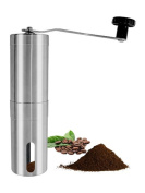 LUXEHOME Brushed Stainless Steel Manual Conical Coffee Burr Mill Coffee Grinder
