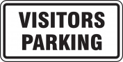 "Accuform Signs FRP198RA Engineer-Grade Reflective Aluminium Facility Traffic Sign, Legend ""VISITORS PARKING"", 30cm Length x 60cm Width x 0.2cm Thickness, Black on White"