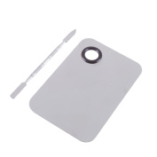 LOAVER Professional Stainless Steel Makeup Palette Pro Cosmetic Mixing Plate With a Makeup Blending Spatula Tool