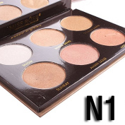 Makeup Ultimate Glow Luminous Shimmer Glow Kit Highlighter Powder Palette -6 Colour Compact Set