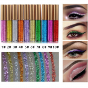 Coosa Glitter Liquid Eyeliner 10PCS 10 Colours Long Lasting Waterproof Sparkling Eyeliner Eye Shadow Pen – 10PCS