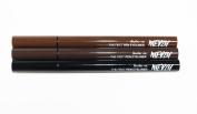 3 Shades of Merzy Felt tip Pen Eyeliner w/ Long-Lasting 12HR Waterproof tattoo ink