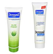 Body Lotion Skin Care Creamy Aloe (300ml) Dry Skin (300ml) 2 Item Bundle
