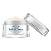 Aprilis Retinol Moisturiser Cream for Face & Neck, Anti-Ageing Night Cream with Active Retinol, Hyaluronic Acid and Vitamin E, Reduces Wrinkles, Acne and Stretch Marks, 50 ml, 1.7 fl. oz.