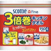 Scottie fine triple winding kitchen towel 150 cut *4 roll [Scottie kitchen paper]