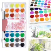 CoCocina 36 Assorted Colours Solid Watercolour Artist Painting Pigment Box Set
