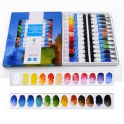 CoCocina 24 Colours Professional Artist Grade Transparent Watercolour Oil Paint Set