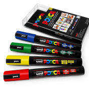 POSCA Colour Tones - PC-5M Art Marker - Set of 4 - In Plastic Wallet - Primary Tones