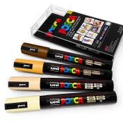POSCA Colour Tones - PC-5M Art Marker - Set of 4 - In Plastic Wallet - Skin Tones