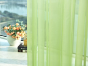 1 PC Solid Washable Valances Tulle Voile Curtain Door Window Drape Panel Sheer Scarf Divider Deco - Woaills 270cm x 100cm
