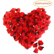 LUOEM 3000pcs Rose Petals Artificial Flower Decorations Romantic Flower Decor for Wedding Valentine's Day Home - Red