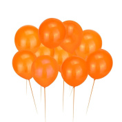 Mromick 100Pcs Orange Latex Balloons Halloween Birthday Party Room Ornament Decor