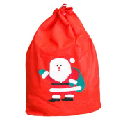 Binmer(TM) New Large Canvas Merry Christmas Music Forest Stocking Gift Storage Bag Candy Pouch