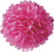 Luna Bazaar Tissue Paper Pom Pom (25cm , Fuchsia Pink) - For Baby Showers, Nurseries, and Parties - Hanging Paper Flower Decorations